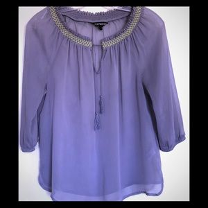 See-trough summer blouse